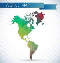 Western Hemisphere globe Bright map vector image