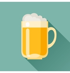 beer mug in flat design style vector image