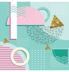 Memphis Style Abstract Background With Geometric vector image vector image