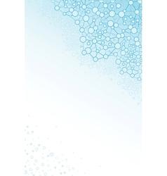 Molecular structure scientific vertical background vector image