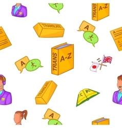 Translation pattern cartoon style vector image vector image