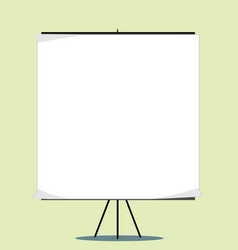 white board with empty space for your message vector image