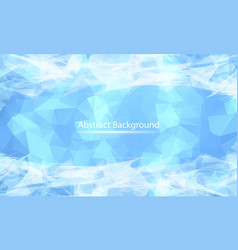 abstract white blue polygonal surface background vector image