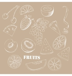 Background with fruit-04 vector image