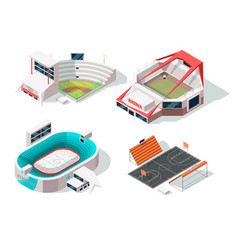baseball football hockey and basketball stadiums vector image
