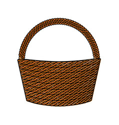 Basket empty isolated icon vector