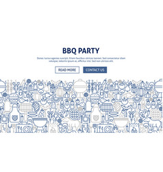 Bbq party banner design vector