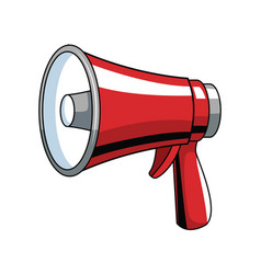 Bullhorn advertising symbol pop art vector