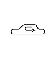 car recirculation icon vector image