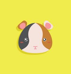 Cartoon hamster face vector