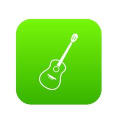 charango icon digital green vector image