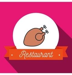 Chicken bird restaurant icon vector