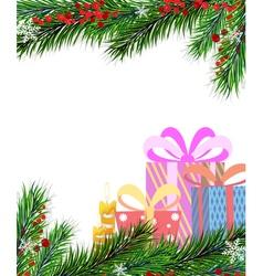 Christmas presents and Christmas tree vector