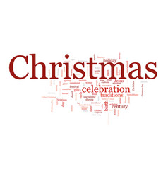 christmas text cloud vector image