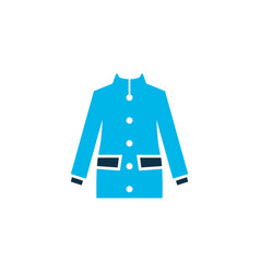 coat icon colored symbol premium quality isolated vector image