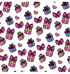 color close presents gifts boxes background vector image