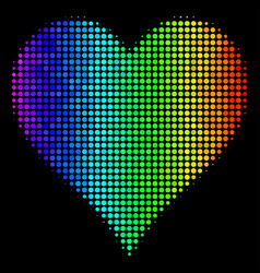 colored dot hearts suit icon vector image
