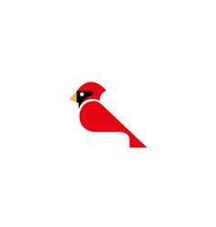 creative red cardinal logo vector image