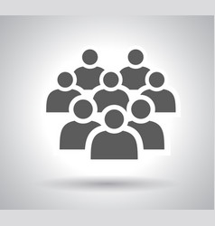 crowd people - icon silhouettes vector image