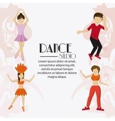 Dance studio avatar dancer design vector