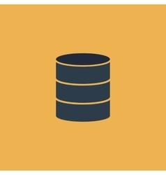 Database flat icon vector image