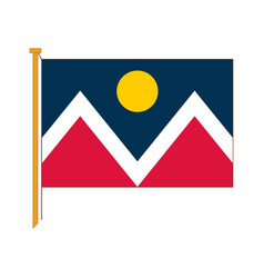 Detailed reproduction of the official flag denver vector