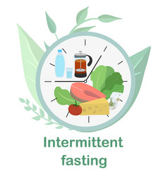 Dial with concept intermittent fasting vector