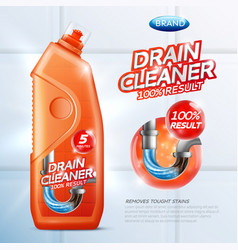 Drain cleaner poster vector