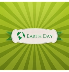 Earth Day realistic Holiday Banner Template vector
