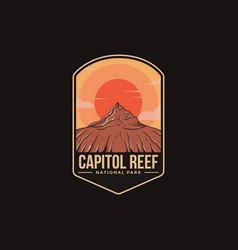 Emblem patch logo capitol reef national park vector