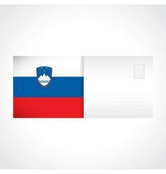 Envelope with Slovenian flag card vector