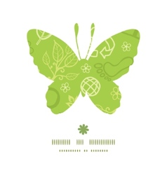 Environmental butterfly silhouette pattern frame vector