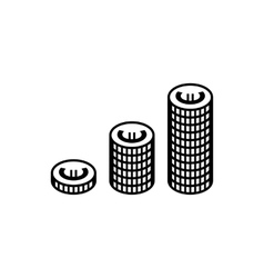 Euro coins simple icon vector