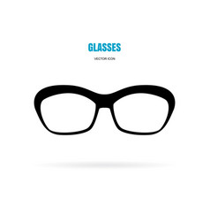Eye glasses icon isolated on white background vector