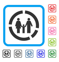 family diagram framed icon vector image