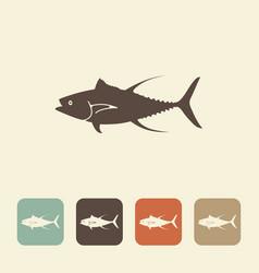 Fish tuna stylized icons vector