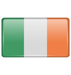 Flags Ireland in the form of a magnet on vector image