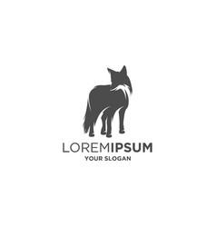 fox silhouette logo vector image