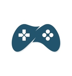 Game joystick or device controller logo vector