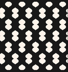 geometric black texture with curved shapes vector image