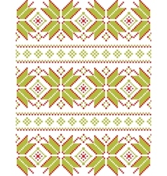 Geometric crocheted snowflakes pattern vector