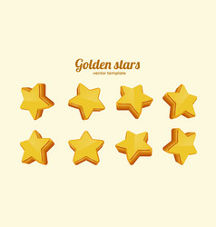 golden stars in different positions collection vector image