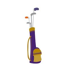 Golf bag vector