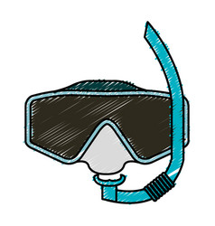 googles snorkels isolated icon vector image