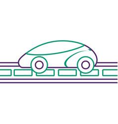 Gps navigation car smart on road vector