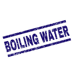 Grunge textured boiling water stamp seal vector