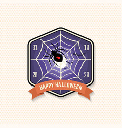 halloween party patch vector image