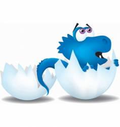 Hatching baby dinosaur vector