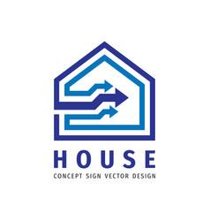 House building concepr icon logo design arrows vector