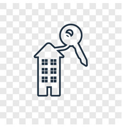 house key concept linear icon isolated on vector image